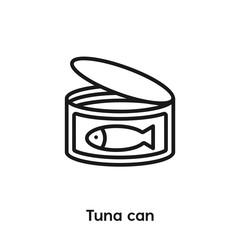 tuna can icon vector sign symbol