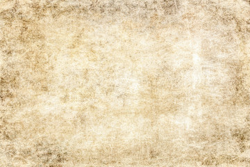 Brown light old grunge paper texture.Vintage rustic wallpaper with a nice patina.