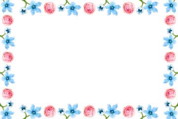 ガーリーな小花のフレーム