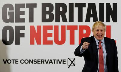 Britain's Prime Minister Boris Johnson's general election campaign