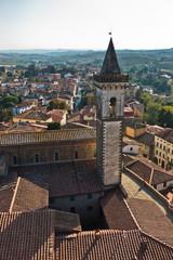 Cityscape of Vinci, small town in Tuscany, Italy where Leonardno da Vinci was born
