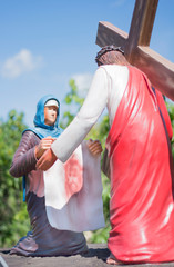A Woman Wiping Jesus' Face with her Veil