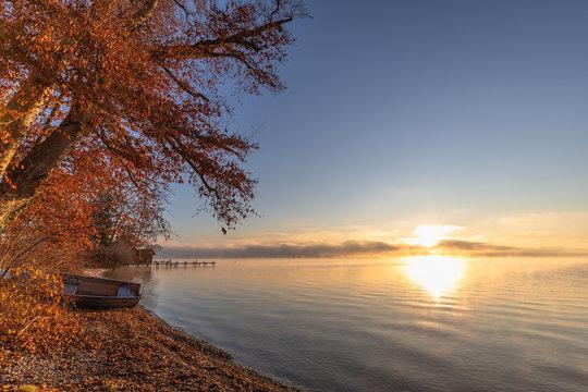 Sonnenaufgang Starnberger See Tutzing Sunrise