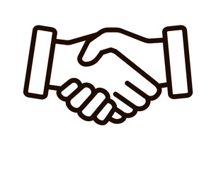 Business agreement handshake line style art icon for websites and apps . Vector illustration
