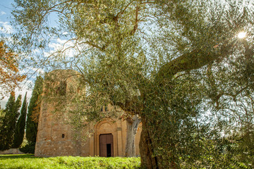 church Pieve di Corsignano Pienza Tuscany Italy