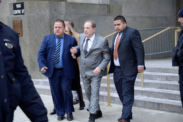 Film producer Weinstein leaves after hearing in New York State Supreme Court