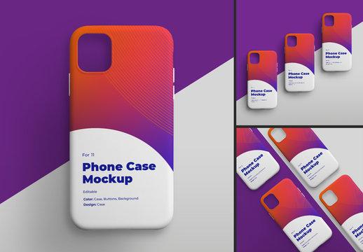 Smartphone Phone Case Mockup Set