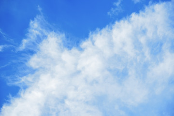 Wall Mural - blue sky with clouds