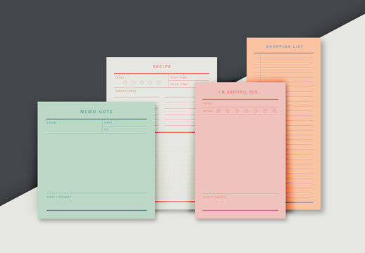 Colorful Planner Set