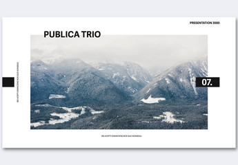 Black and White Pitch Deck Layout