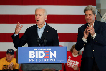 "Democratic 2020 U.S. presidential candidate Biden's ""No Malarkey!"" campaign in Cedar Rapids, Iowa"