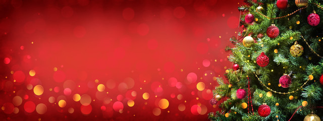 Christmas and New Year holiday background with copy space for your text.