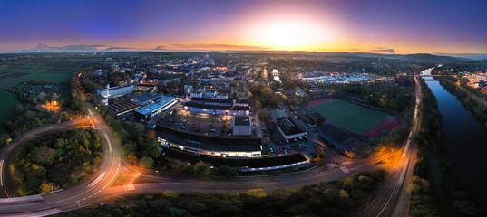 Stadt Saarlouis Sonnenuntergang Panorama Fototapete