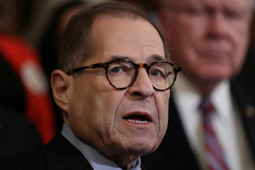 U.S. House Judiciary Committee Chairman Jerrold Nadler (D-NY) speaks at a news conference on Capitol Hill in Washington
