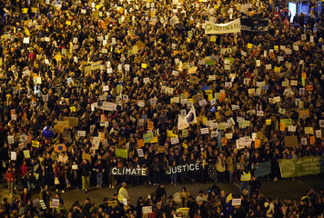Climate change protest march in Madrid