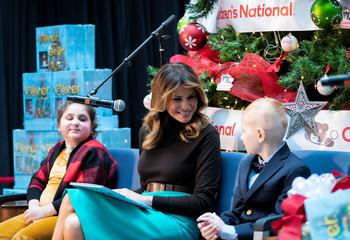 U.S. First Lady Melania Trump visits Children's National Hospital