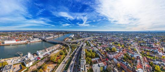 Obraz Ludwigshafen City aerial shot - fototapety do salonu