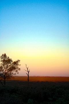 Sunset in Mungo National Park in Australia