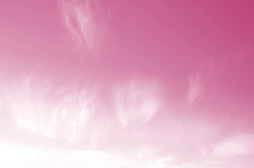 Foto auf Acrylglas Rosa Lovey Pink sky with beautiful natural white clouds