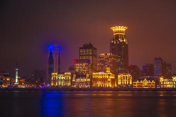 Shanghai at night. Located in The Bund