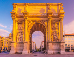 Porte Royale - triumphal arch in Marseille, France.