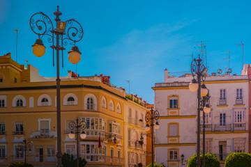 View of a street in spanish city Cadiz