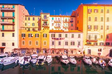 Picturesque district Venezia Nuova in Livorno.