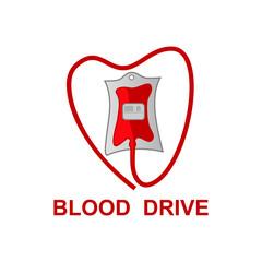 vector of donate blood drive logo design eps format