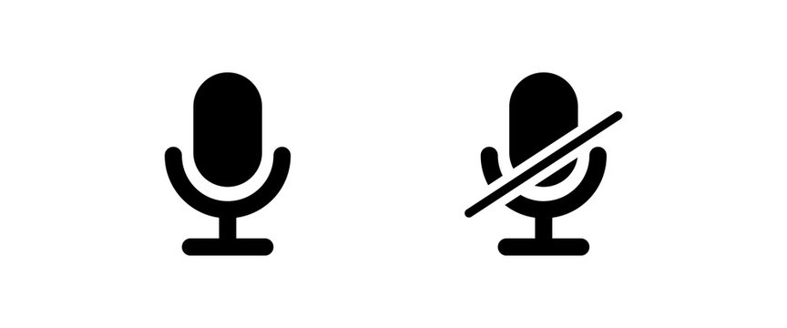 microphone icon . web icons or signs . web and mobile icons.