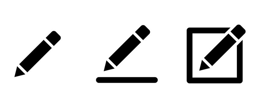 pen icon . web icons or signs . web and mobile icons.