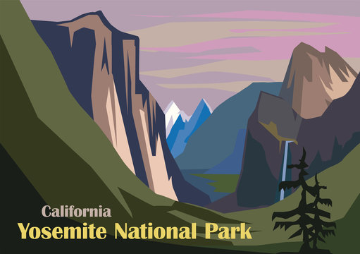 Tunnel View landscape, Yosemite National Park