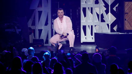 Smith performs during iHeartRadio Jingle Ball concert at The Forum in Inglewood