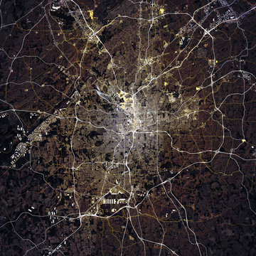 Map Atlanta city. Georgia