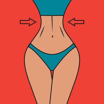 Slim waist with arrows