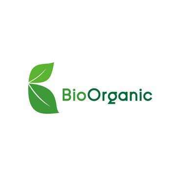 simple initial B concept of nature leaf logo. letter B leaf symbol icon