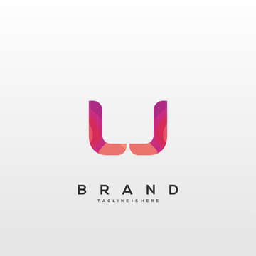 Initial letter LJ logo with colorful, letter combination logo design for creative industry, web, business and company. - Vector