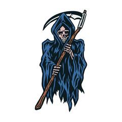 Vector illustration of grim reaper