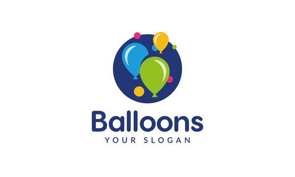Balloons Logo. Party Ballon Logo.