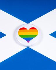 LGBTQ Rainbow Heart with the Scotland Flag