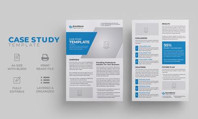 Case Study Template | Blue Case Study Layout