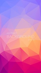 Vertical triangle background for your mobile design - Vector