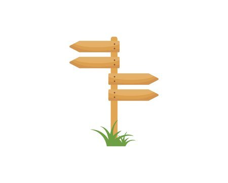 wood sign  icon vector illustration