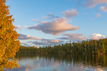 Evening Colors and Clouds in the North Woods