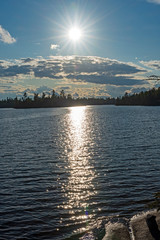 Sun Over a North Woods Lake