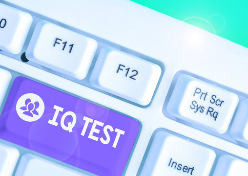 Word writing text Iq Test. Business photo showcasing attempt to measure your cognitive ability huanalysis intelligence