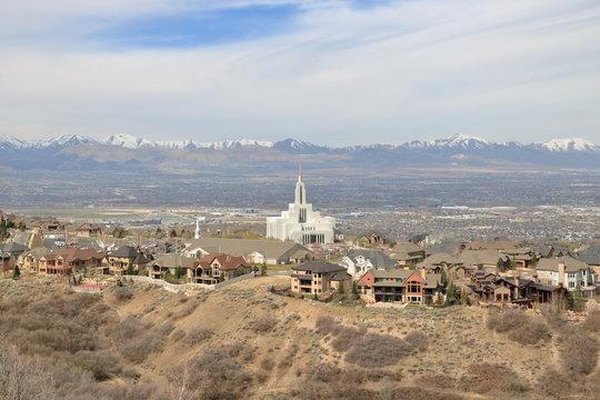 Temple of the Latter Day Saints in Draper, Utah