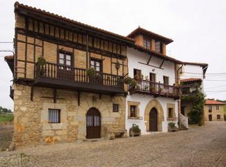 Historical house in Santillana del Mar in Cantabria,Spain,Europe