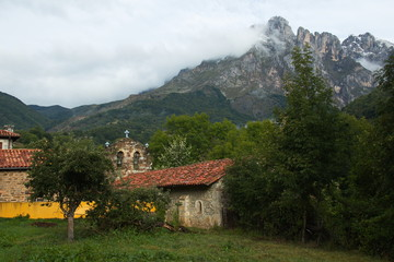 Church in village Pido near Espinama in national park Picos de Europa in Cantabria,Spain,Europe