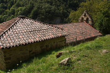 Church in village Las Ilces near Espinama in national park Picos de Europa in Cantabria,Spain,Europe
