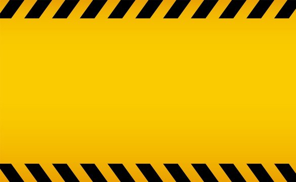 Caution backgorund. Black and yellow line striped. Blank warning background for design progect. Access is denied. Road work in progress